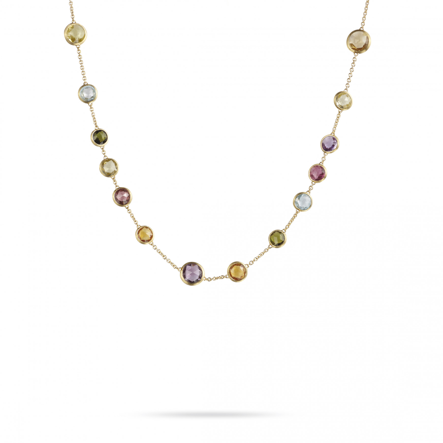 """Marco Bicego Jaipur 18kt Yellow Gold Multi Stones Necklace 17"""""""