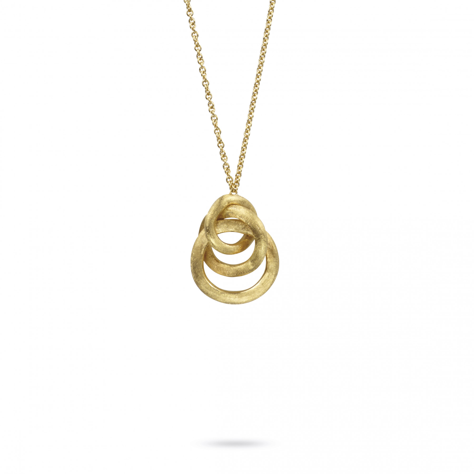 Marco Bicego Jaipur Triple Circle Link Pendant in 18kt Yellow Gold