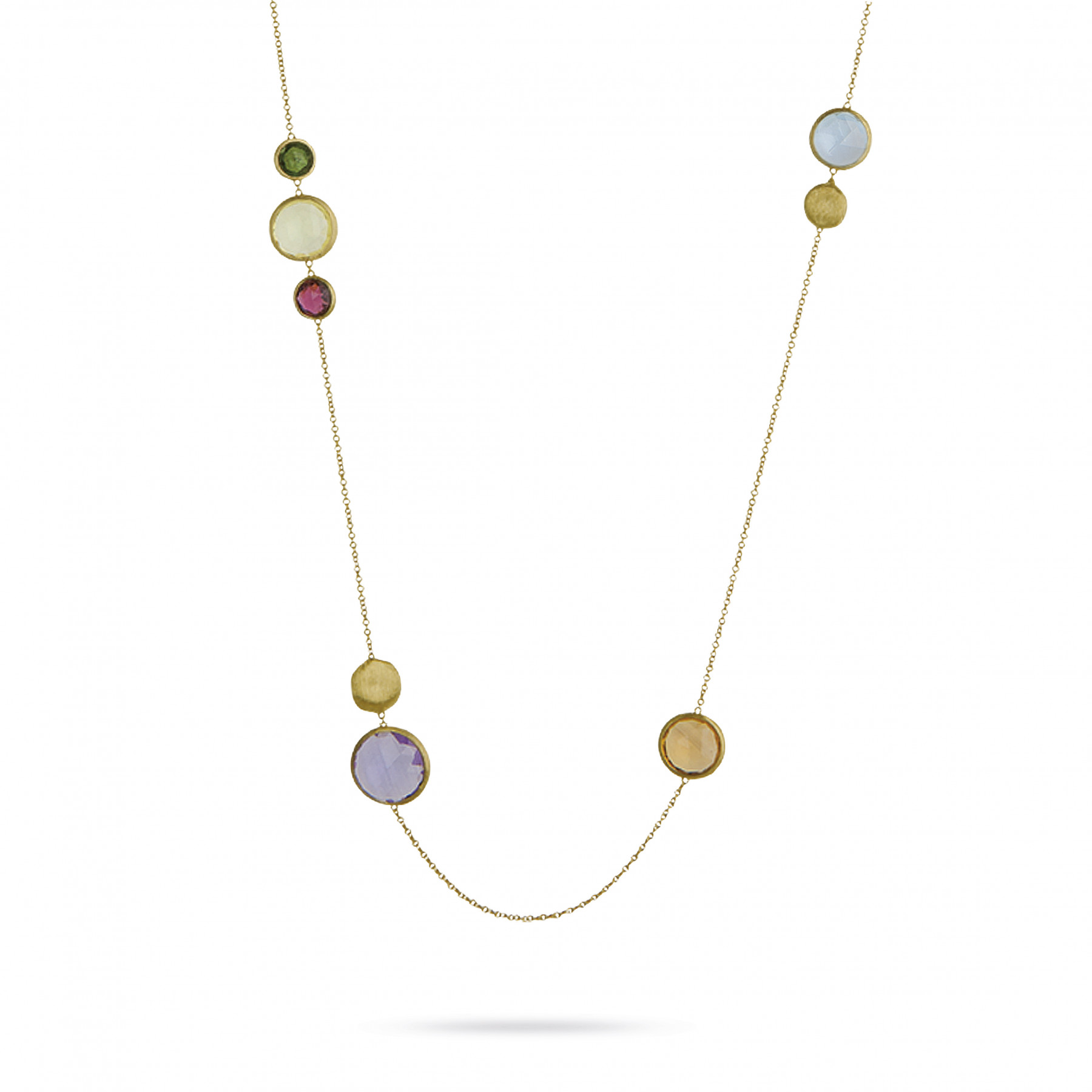 Marco Bicego Jaipur 18kt Yellow Gold Necklace with Mixed Stones 36""