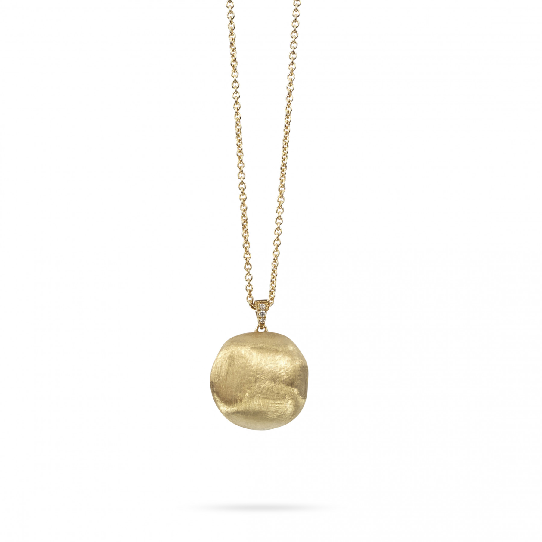 Marco Bicego Africa Yellow Gold Ball Pendant Necklace