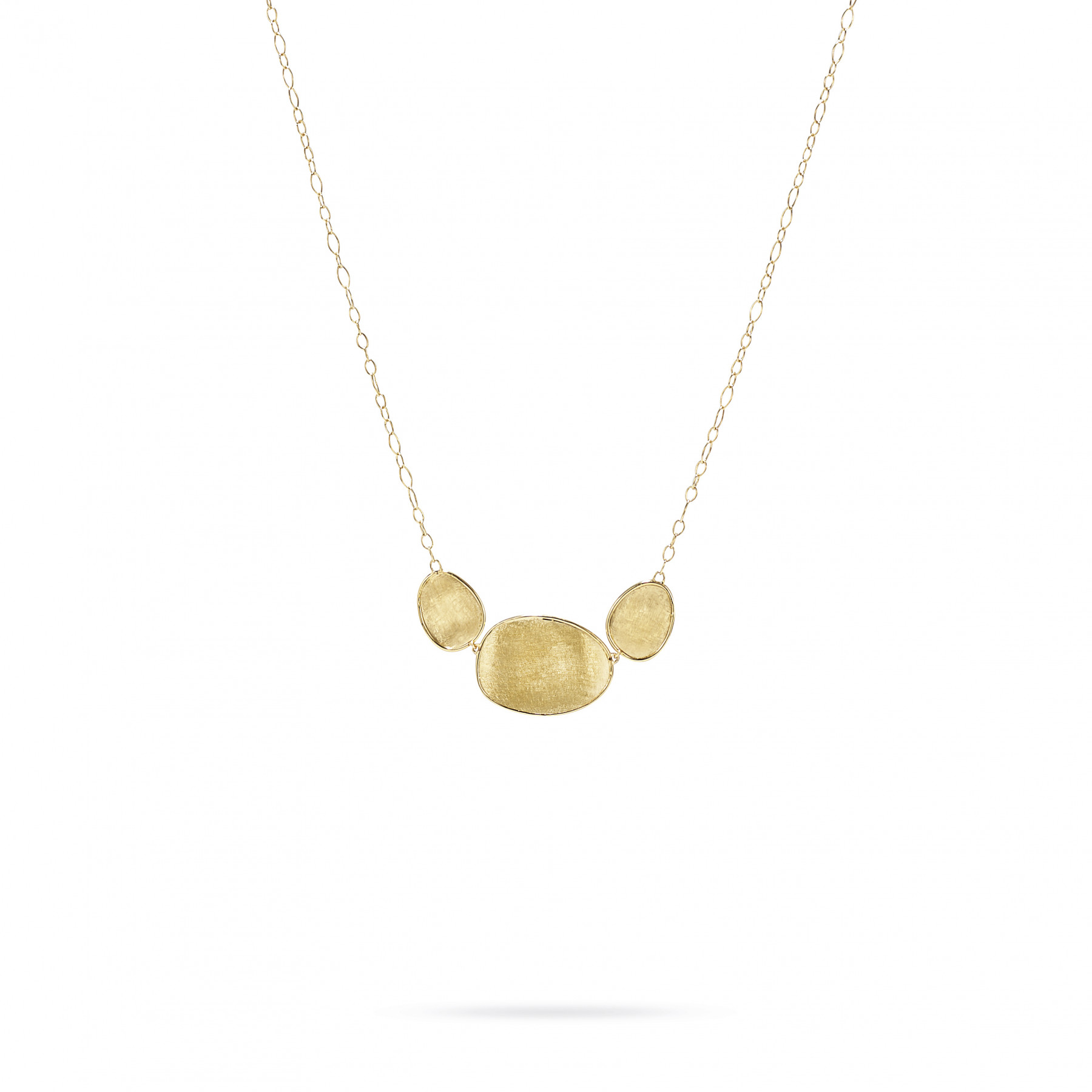 Marco Bicego Lunaria 18kt Yellow Gold 3 Elements Necklace2
