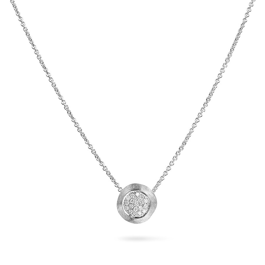 Marco Bicego White Gold & Diamond Circle Pendant Jaipur Necklace