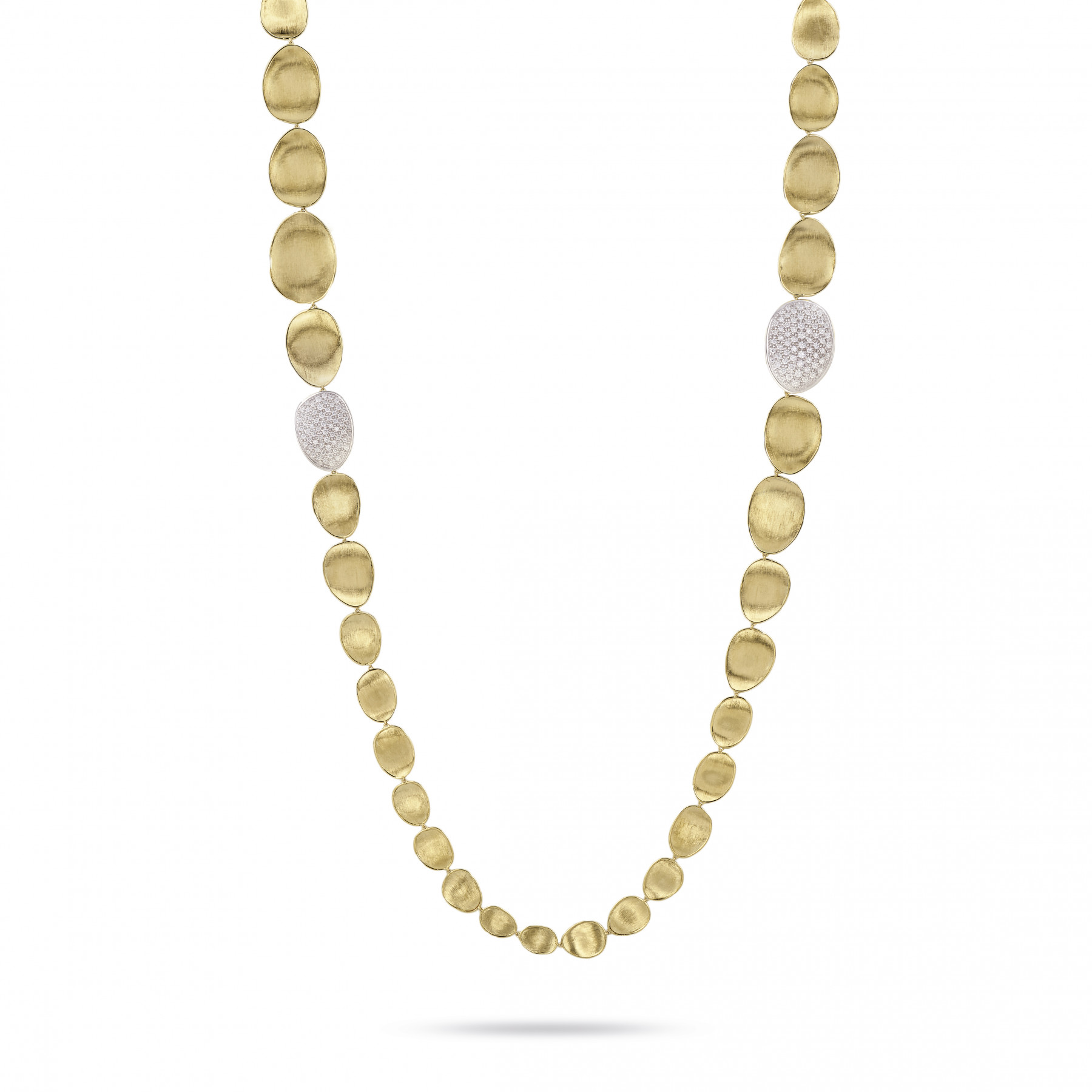 Marco Bicego Lunaria Double Wave Diamond Necklace