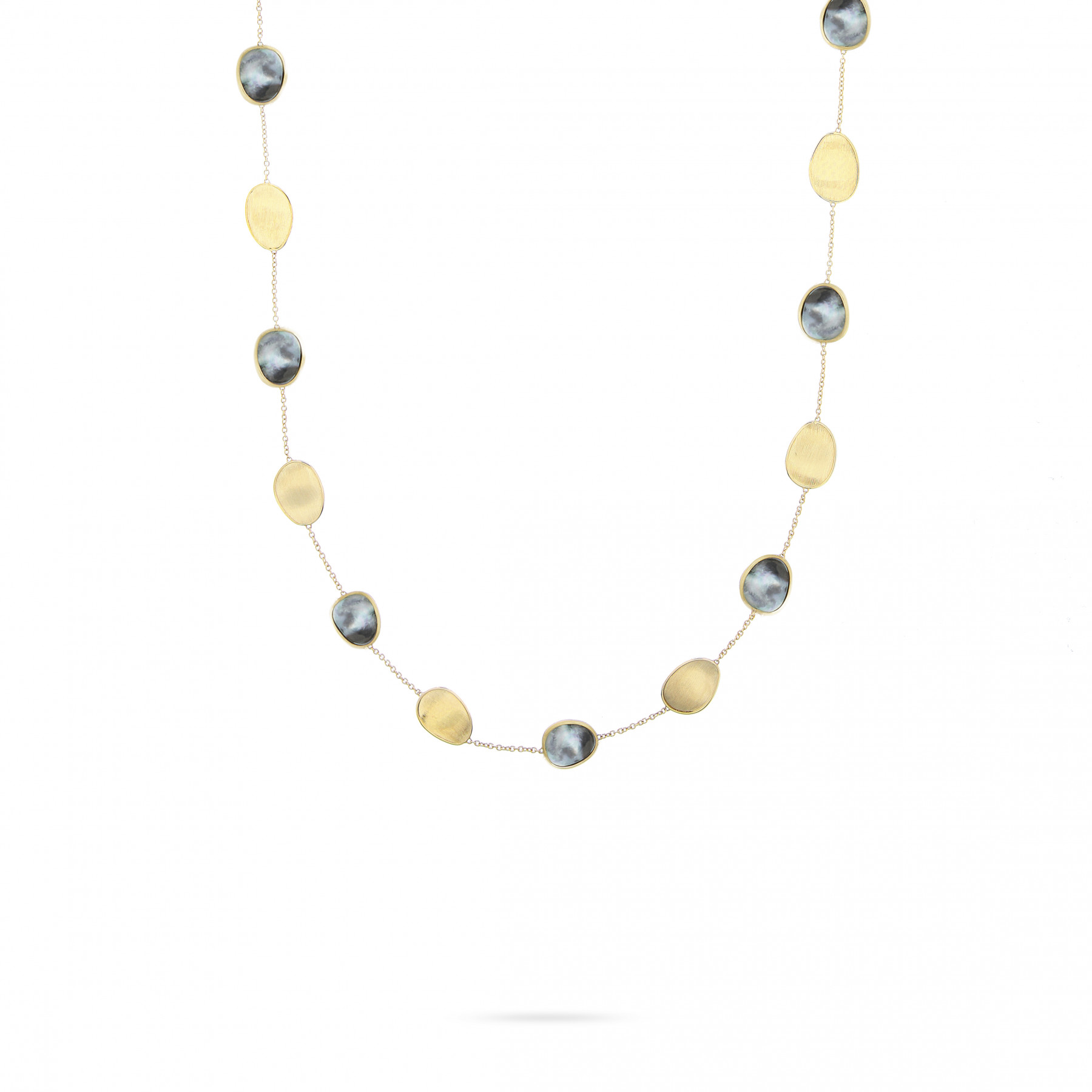 Marco Bicego Lunaria Black Mother of Pearl Station Necklace