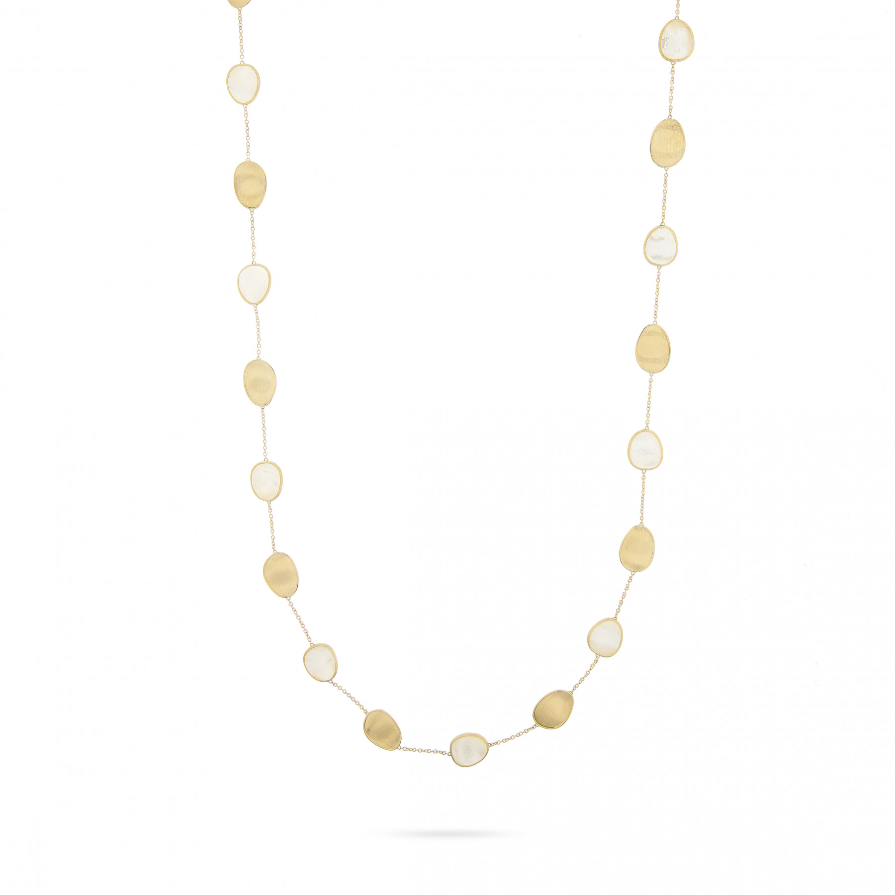 Marco Bicego Yellow Gold & Mother of Pearl Lunaria Necklace