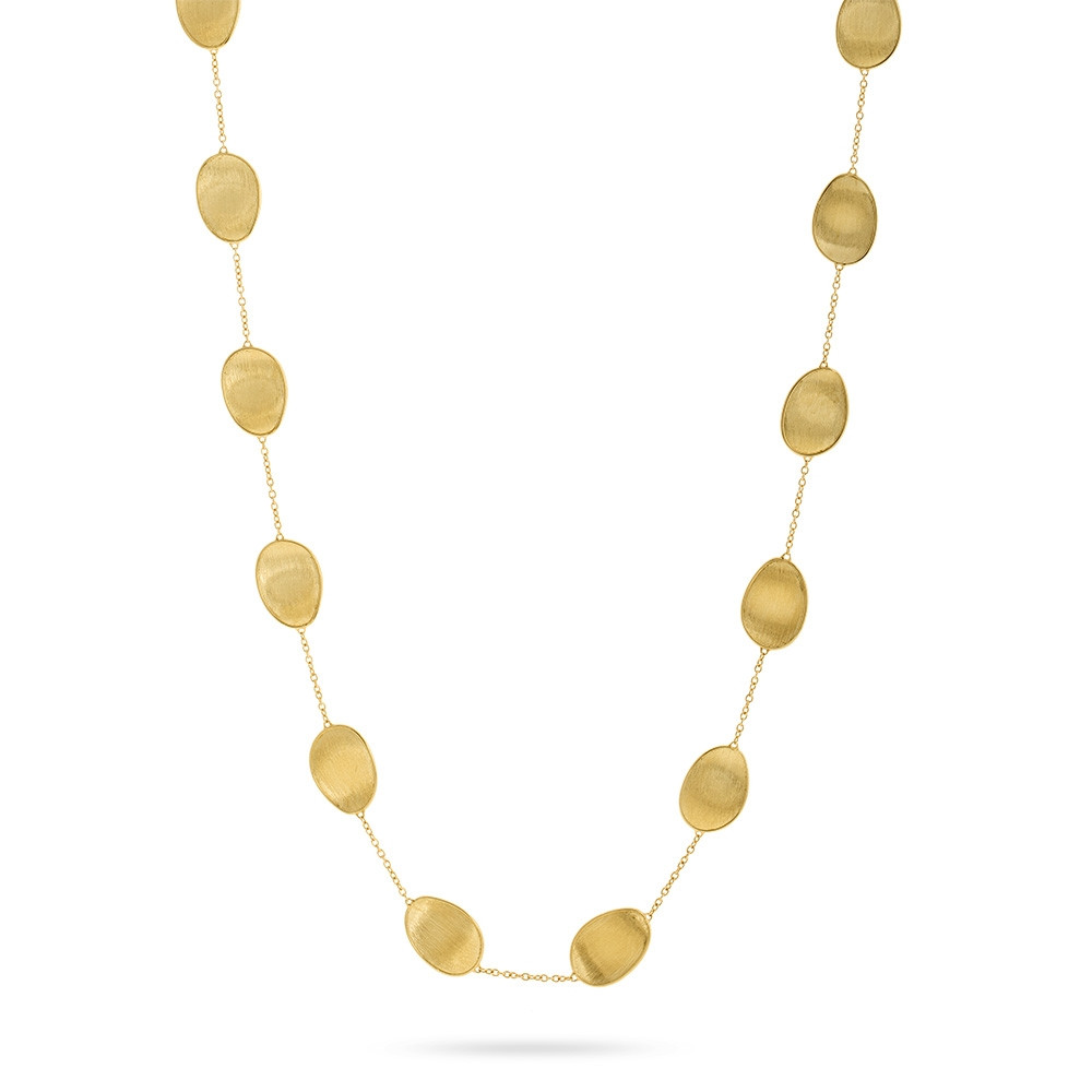 Marco Bicego Long Lunaria Yellow Gold Station Necklace