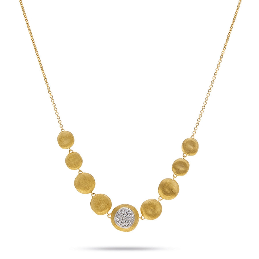 Marco Bicego Yellow Gold & Diamond Graduated Bib Jaipur Necklace