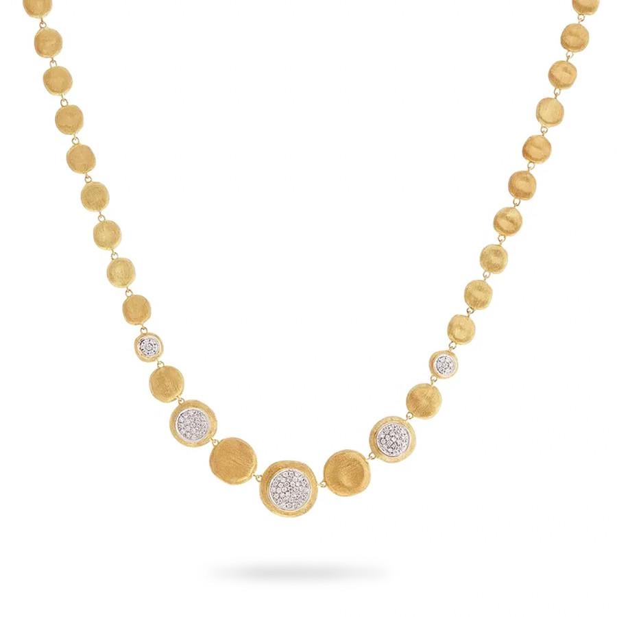 Marco Bicego Yellow Gold & Diamond Station Jaipur Necklace