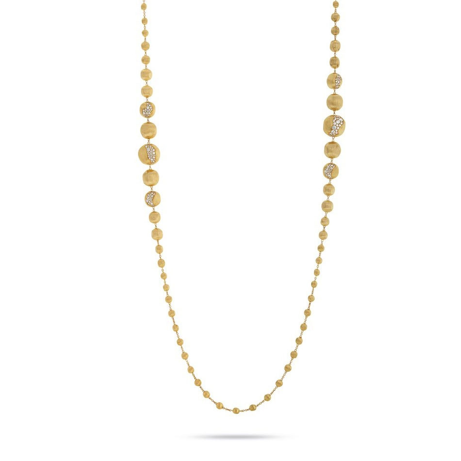Marco Bicego Africa Constellation Diamond Yellow Gold Degrade Necklace