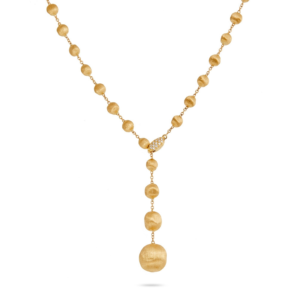 Marco Bicego Yellow Gold & Diamond Lariat Africa Constellation Necklace