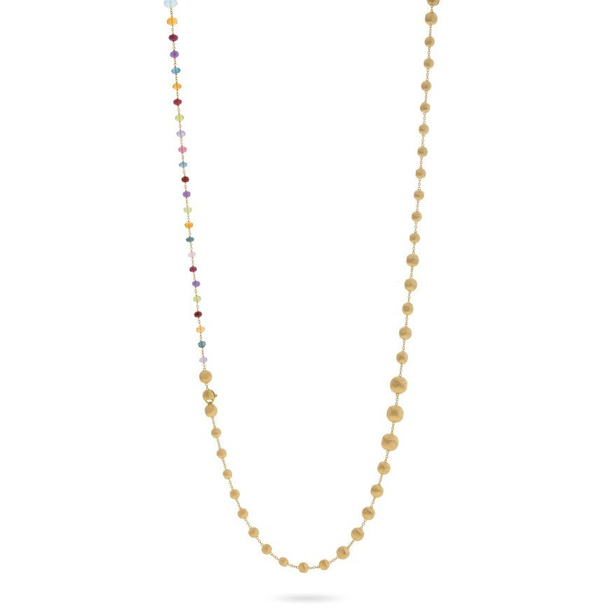 Marco Bicego Africa Color Mixed Gemstone & Yellow Gold Station Necklace