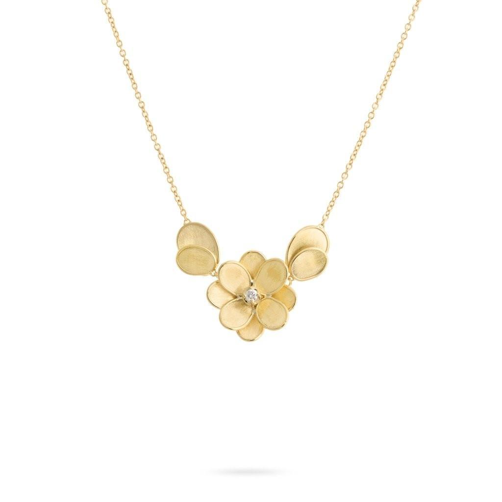 Marco Bicego Petali Diamond Flower Necklace