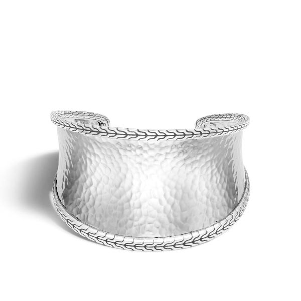 John Hardy Large Silver Cuff Front View