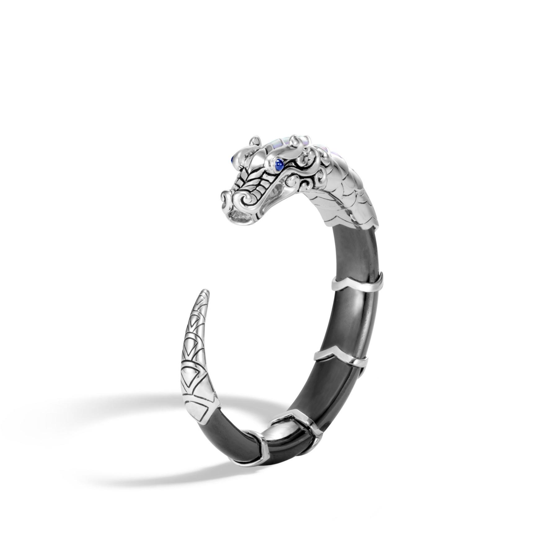 John Hardy Legends Naga Hematite Dragon Cuff Bracelet angle view