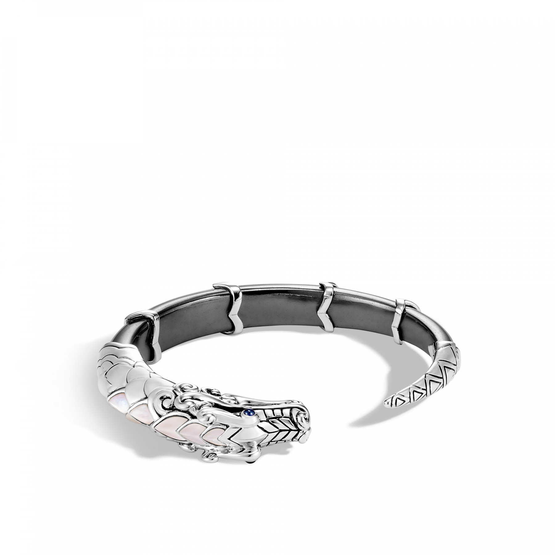 John Hardy Legends Naga Hematite Dragon Cuff Bracelet