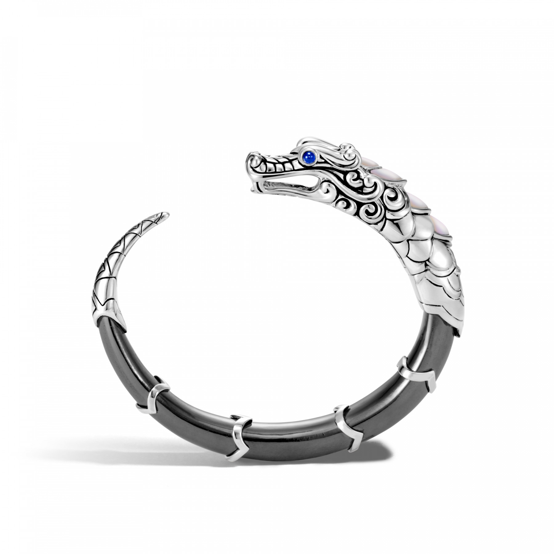 John Hardy Legends Naga Hematite Dragon Cuff Bracelet side view