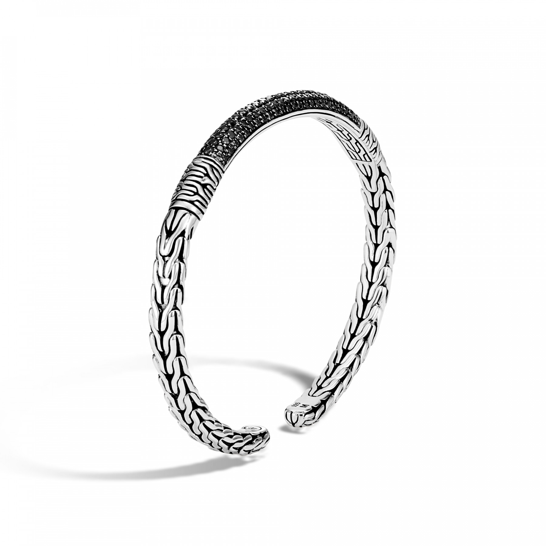 John Hardy Classic Chain Black Spinel Cuff angle view