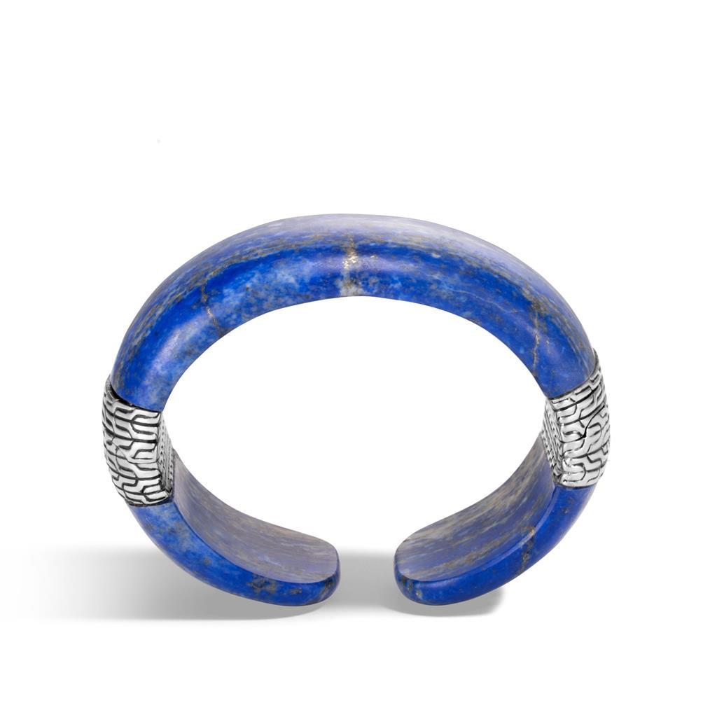 John Hardy Classic Chain Lapis Lazuli Wide Cuff Bracelet