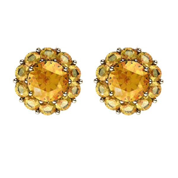 Color My Life Citrine Stud Earrings