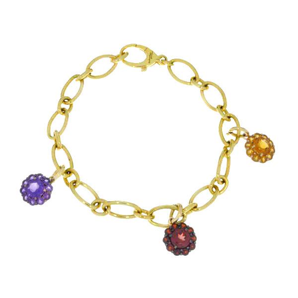 Color My Life Cubic Zirconia Bracelet Charm Full View