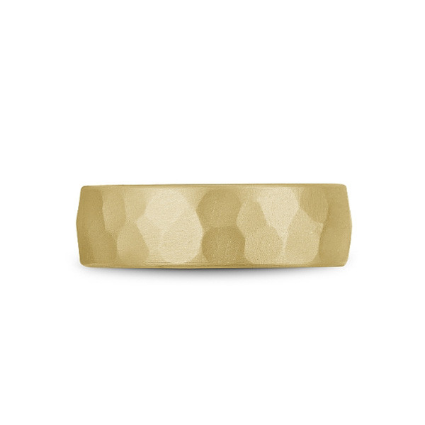 Crown Ring Bleu Royale Hammered Gold and Tantalum Wedding Band top view