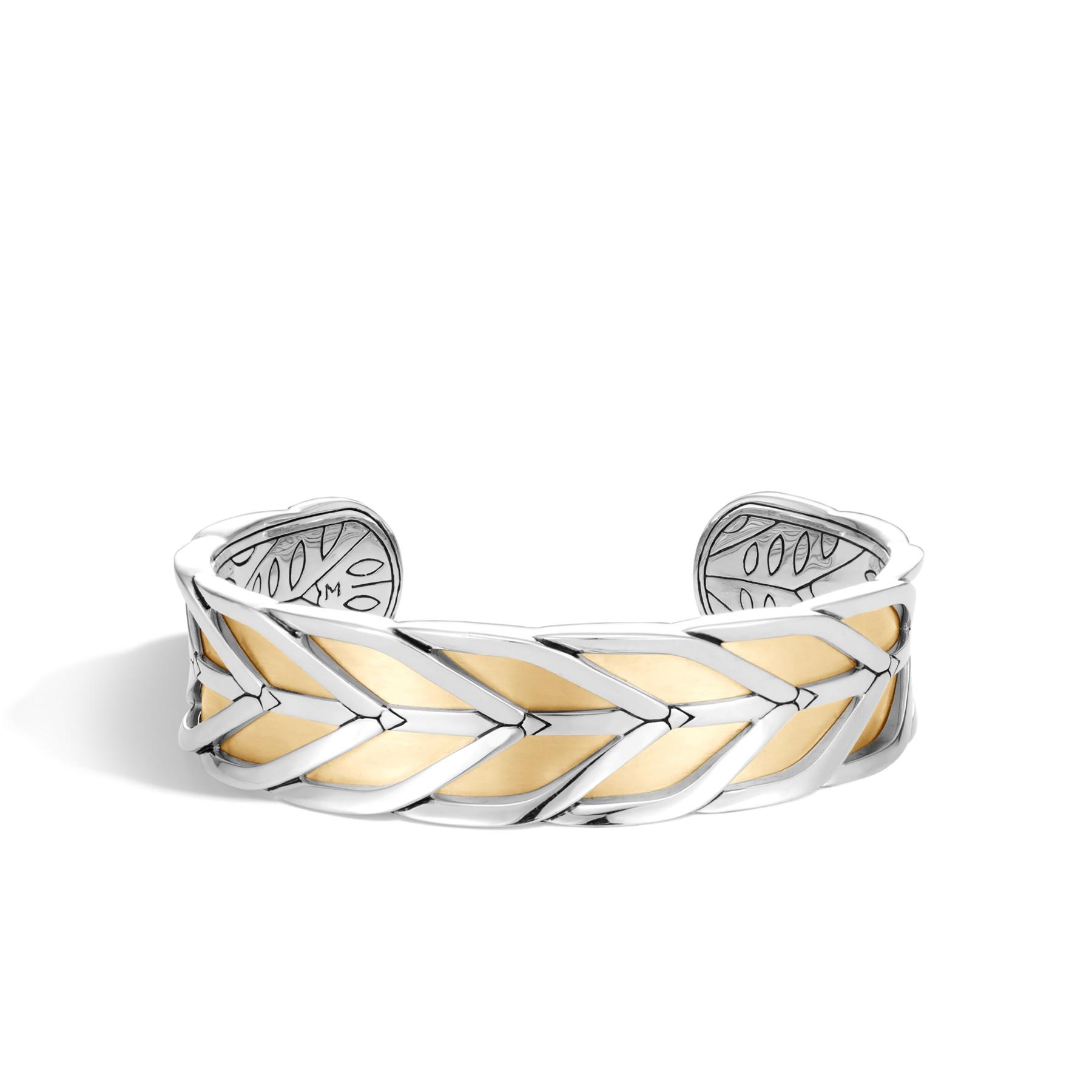 John Hardy Modern Chain Two-Tone Cuff Bracelet front view