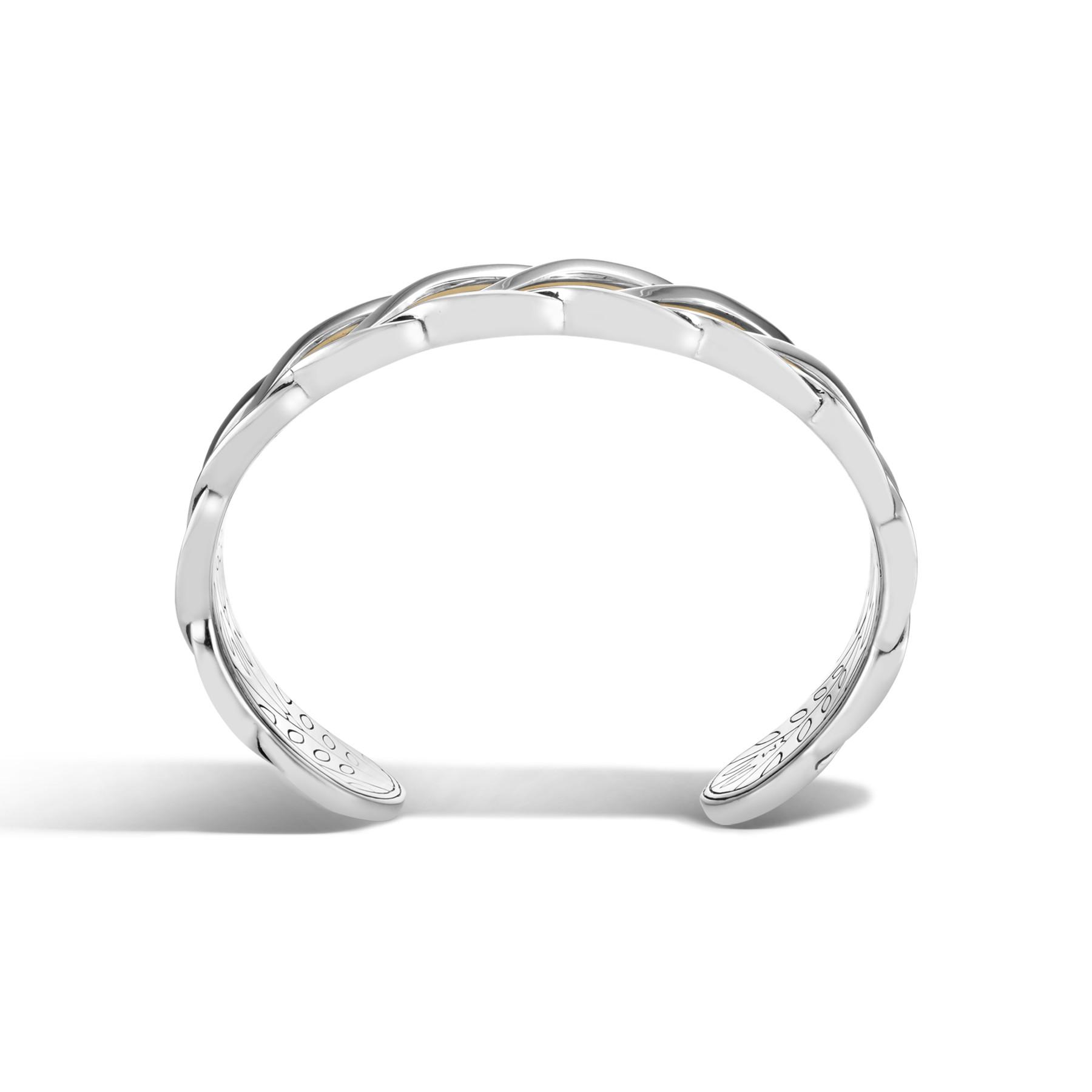 John Hardy Modern Chain Two-Tone Cuff Bracelet side view