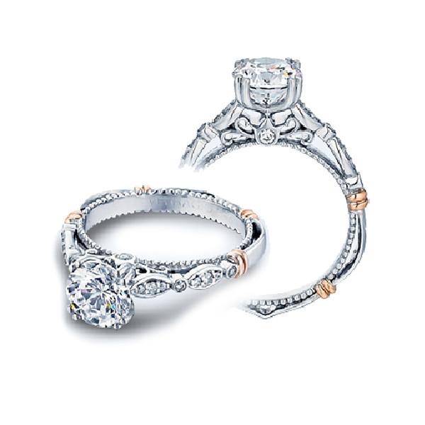 Verragio Parisian Sculpted Pave Diamond Shank Engagement Setting