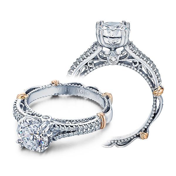 Verragio Parsian Pave Diamond Split Shank Engagement Ring