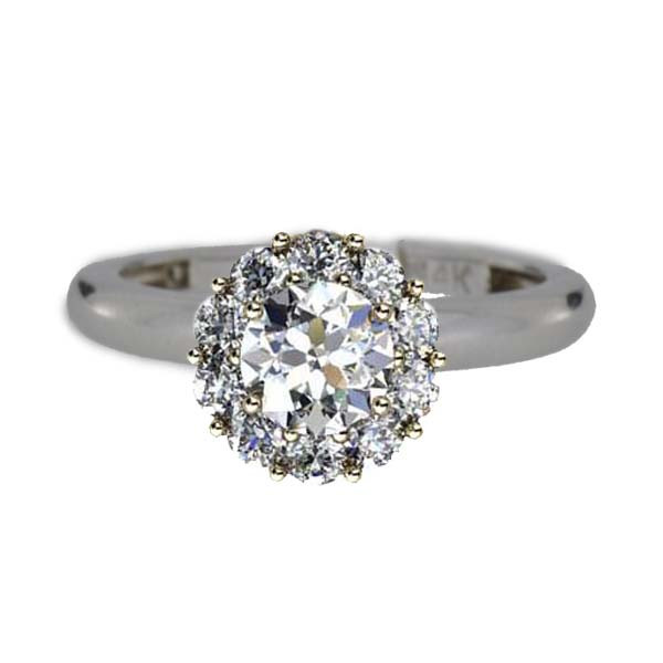 Color My Life Diamond Ring in White Gold