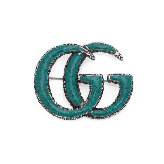 Gucci Interlocking G Turquoise Brooch Main Image
