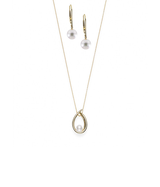 Mikimoto Akoya Pearl 18K Gold - The Drop Set