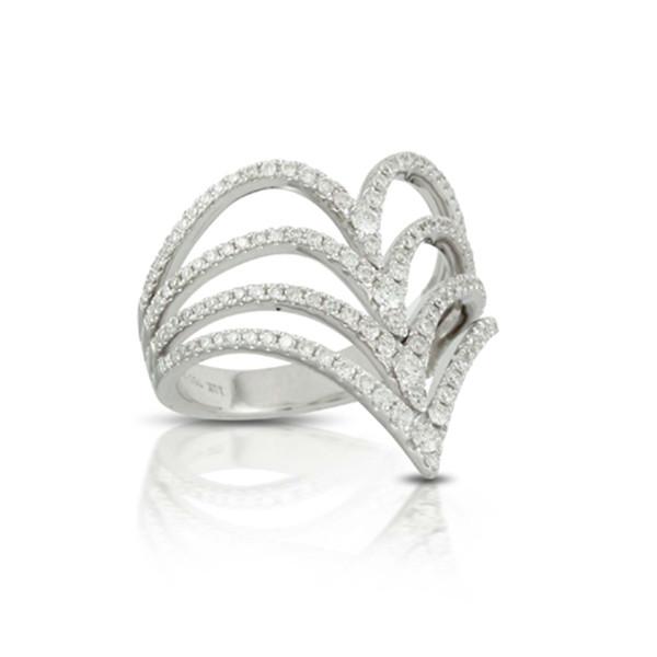 Diamond Chevron Gladiator Ring