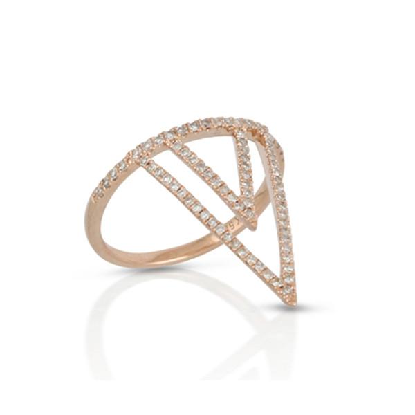 Rose Gold Diamond Gladiator Ring