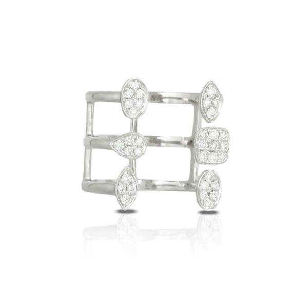 White Gold with Diamonds Gladiator Ring