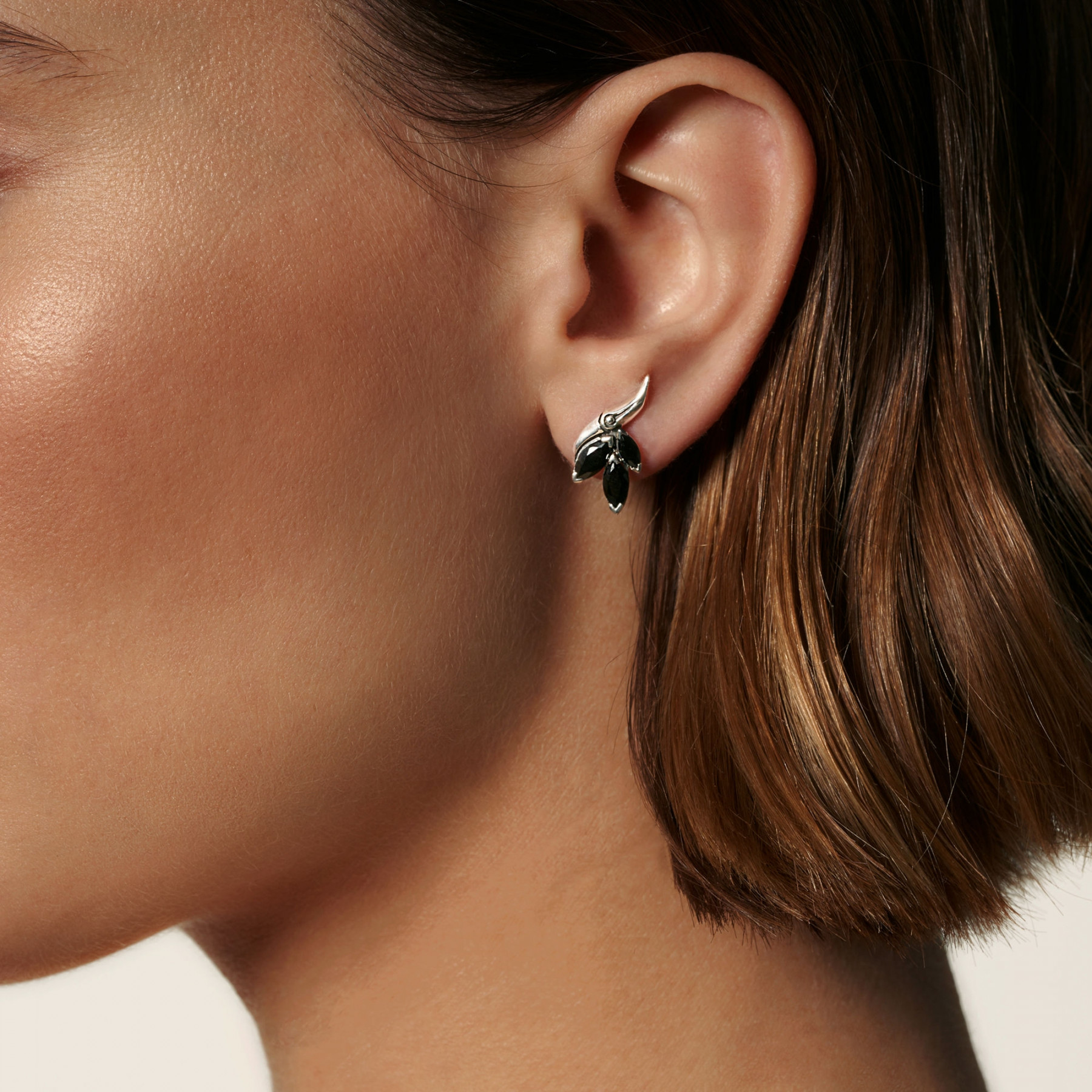 John Hardy Black Spinel Stud Earrings