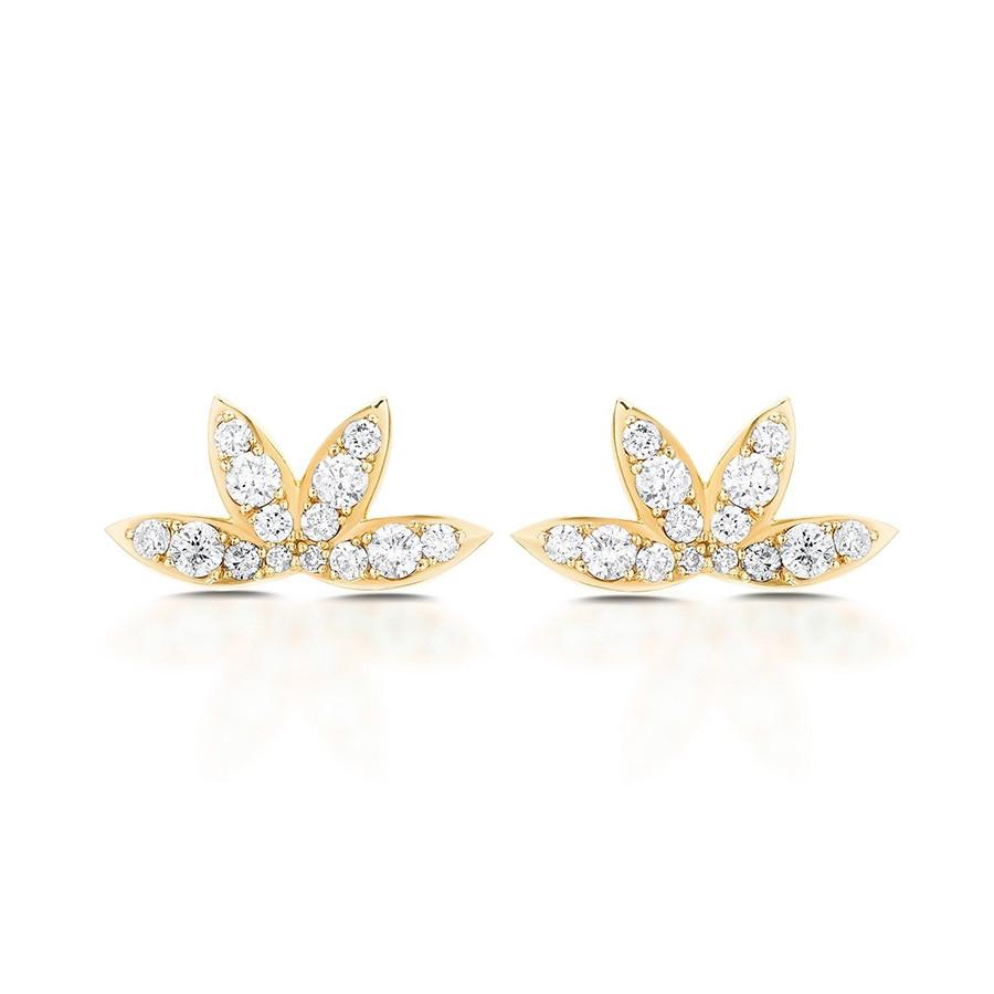 Carbon & Hyde Calypso Yellow Gold Diamond Stud Earrings