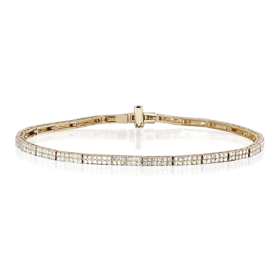 EF Collection Yellow Gold Diamond Eternity Bracelet
