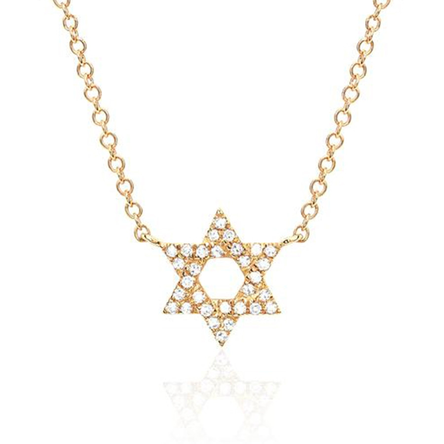 EF Collection Diamond Star of David Pendant Necklace