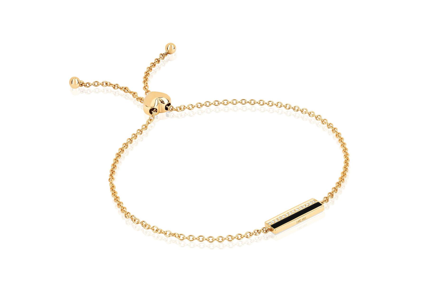 EF Collection Bar Bracelet in 14K Gold