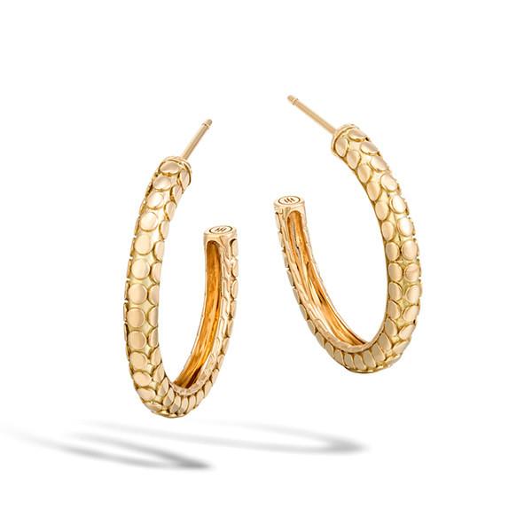 John Hardy Dot Gold Small Hoop Earrings
