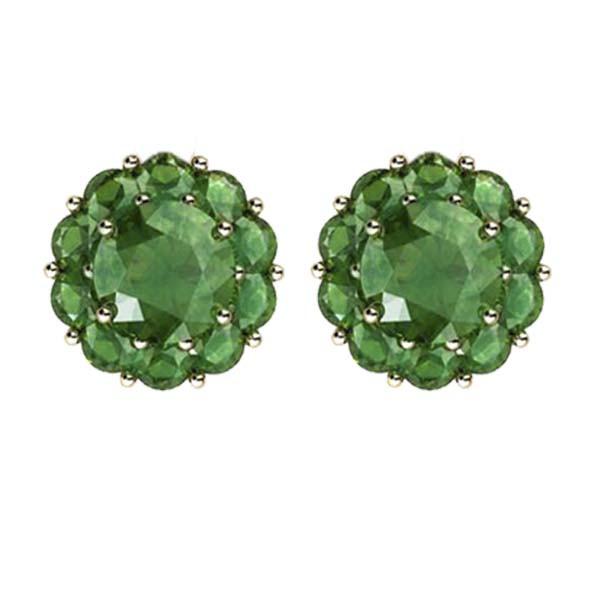 Color My Life Emerald Stud Earrings