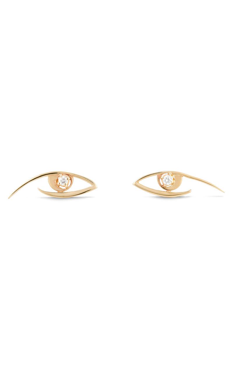 Lana Evil Eye Gold Stud Earrings front