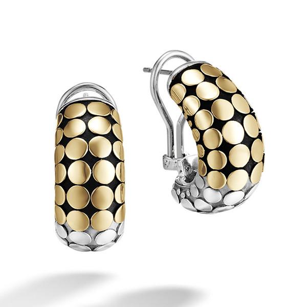 John Hardy Dot Gold & Silver Buddha Belly Earrings