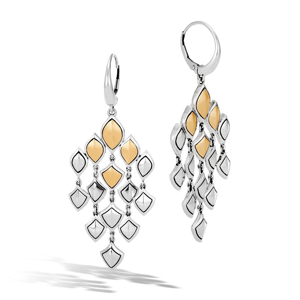 John Hardy Naga Legends Gold & Silver Dragon Scale Chandelier Earrings