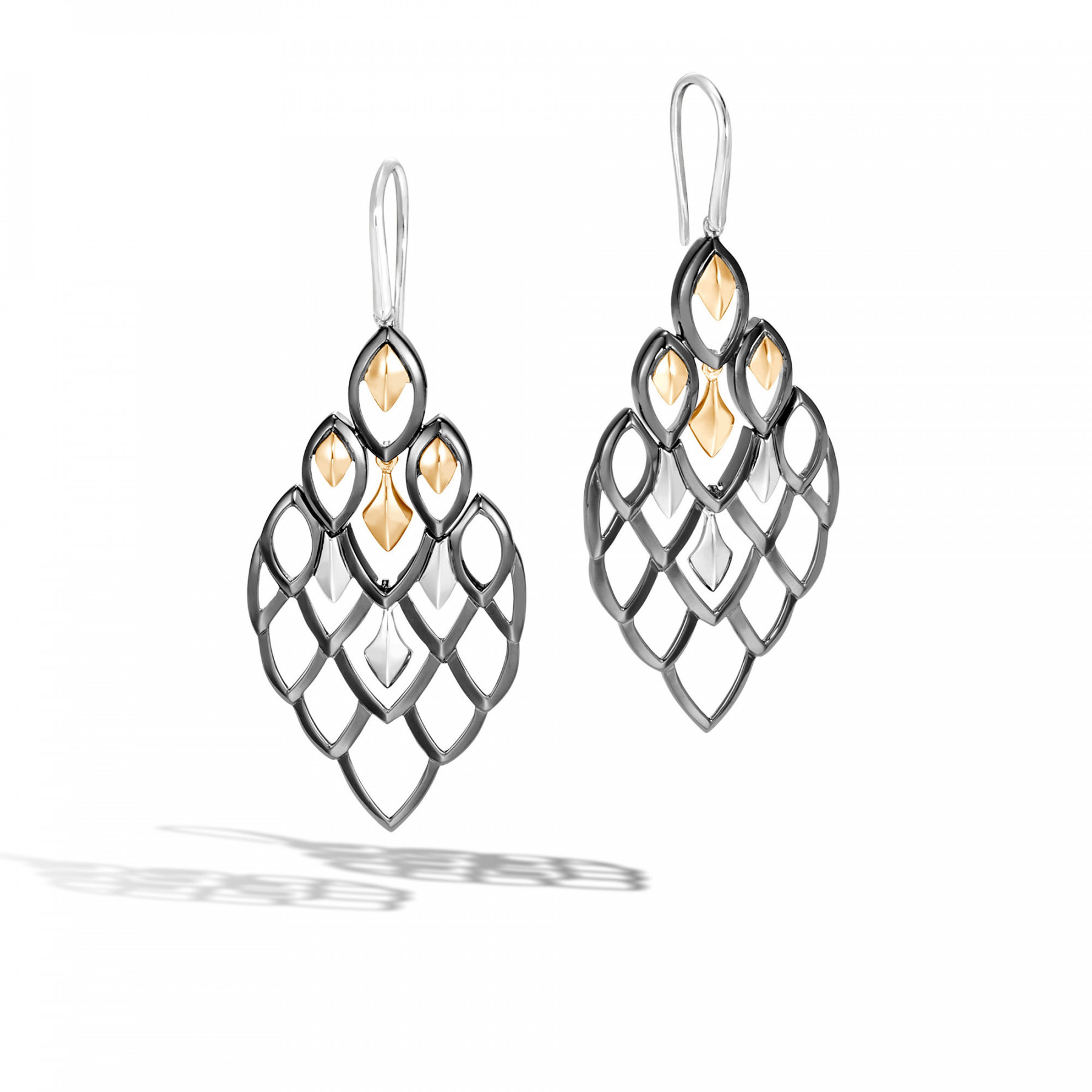 John Hardy Legends Naga Chandelier Scale Earrings