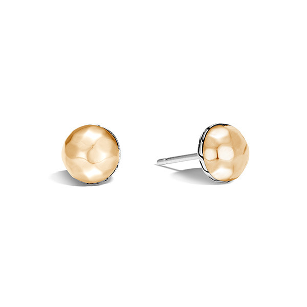 John Hardy Classic Chain Gold & Silver Hammered Studs