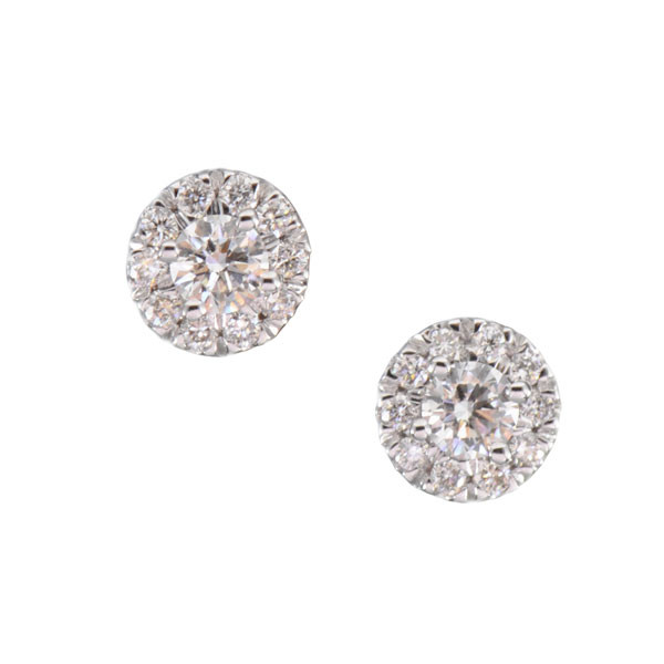 Forevermark The Center of My Universe 18kt White Gold and Diamond Earrings