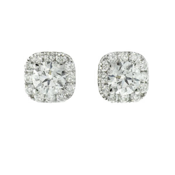 Forevermark Center of My Universe Cushion Halo Earrings