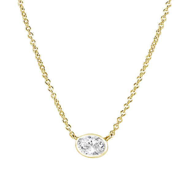 Forevermark Tribute Yellow Gold Oval Diamond Pendant